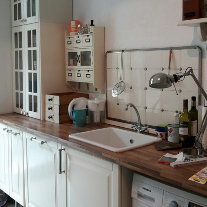 Schon Zu Den Fakten: Die Fronten So Einer Ikea Küche Sind Ganz Glatt   Und Ich  Glaube Ganz Fest An Mein Vintage Paint! Und Dennochu2026..ich Hatte Meine  Befürchtung, ...